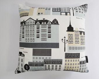My Stockholm - Klippan Scandinavian Swedish fabric cushion cover