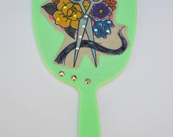 Handheld vanity mirror, handheld mirror, hairdresser mirror