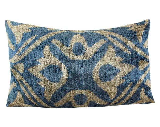 Silk Velvet Ikat Pillow Cover Lp500, Bohemian pillow, Velvet Ikat Pillow, Velvet Pillow, Velvet Pillow Cover, Ikat Pillows, Throw Pillows