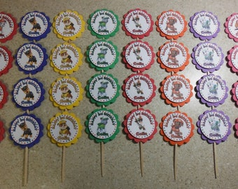 32 PAW PATROL Cupcake Toppers PERSONALIZED - Picks Party Favors