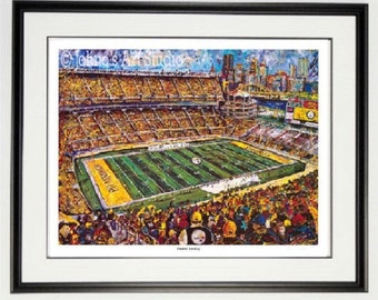 Pittsburgh Steelers wall art, Steelers Heinz Field, Framed print, Heinz Field Stadium, man Cave art, by Johno Prascak
