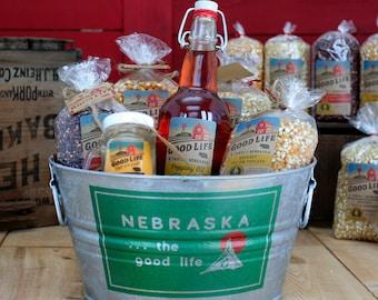 Gourmet Nebraska Popcorn Gift Tub - BNEB5014