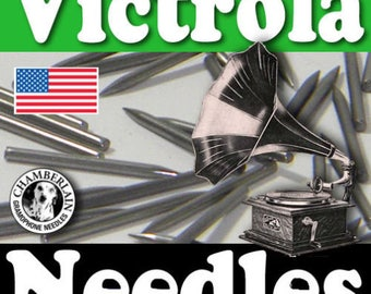 100 polished Metal phonograph NEEDLES for Vintage Victrola Gramophone 78rpm Shellac Records ETSY