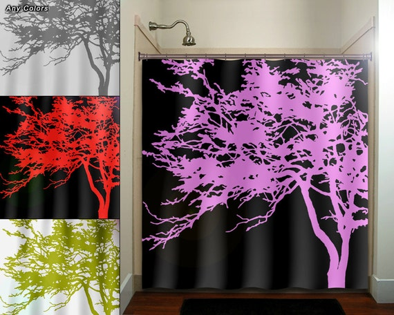 pink and black shower curtain. pink tree black shower curtain  extra long fabric window panel kids bathroom decor custom valance bathmat personalize towel rug