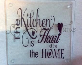 Glass cutting board, cutting board, customizable, kitchen board, vinyl cutting board, baker, kitchen, dining, glass board, textured glass