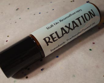 Relaxation Roll On Aromatherapy - Natural Remedies - Body Perfume - Essential Oil Cologne - Holistic