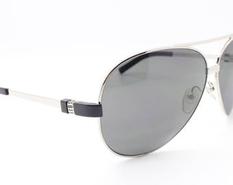 Dirk Bikkembergs aviator sunglasses with grey lenses. Oversized classic teardrop glasses. Made in Italy. Sonnenbrille, lunettes.
