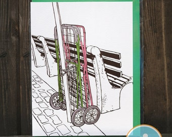 Chained Carts - Brooklyn Note card
