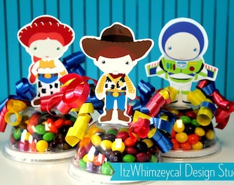 Toy | Toy Box | Cowboy Party | Robot Party | Birthday Party | Candy Container | Party Favor Boxes | Favor | Gifts | Centerpieces | Decor