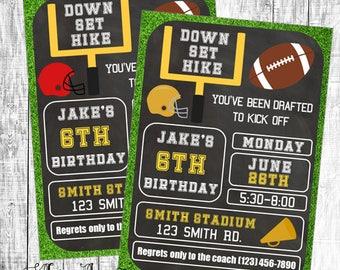 Birthday Invitation, Football Invitation, Football Party Invitation, Football Birthday Invitation, Touchdown Invitation