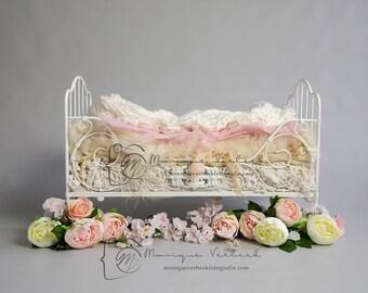 Digital background little bed newborn