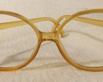 Over sized hipster Saphira Optyl -made in Austria -over sized amber plastic 80s glasses frames 4104 vintage