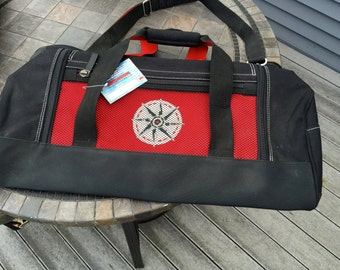 Vintage Marlboro Unlimited Gear Large Duffle Bag Compass Design