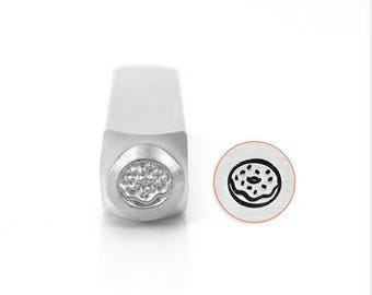 Donut Metal Stamp 6mm ImpressArt Steel Stamping Tool for Hand Stamping Jewelry and Leather - AA180