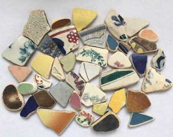 Genuine surf tumbled scottish sea pottery