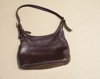 Vintage Coach Leather Bucket Bag - Coach Purse - 1970s Coach Bag - Leather Bucket Bag - Brown Leather Bag - WA0007