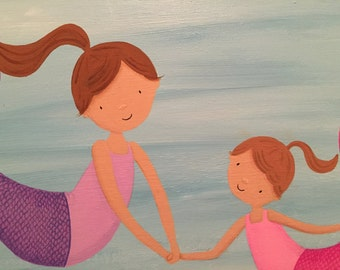 Mermaid Sisters- Original Painting 18x24