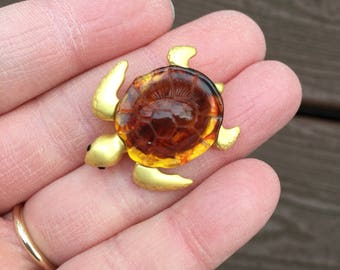 Vintage Jewelry Adorable Turtle Pin Brooch