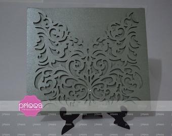 SVG Wedding invitation template Alasca  - FCM, Cricut, Silhouette, laser cut