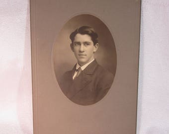 1900 Sepia Cabinet Card of Young Gentleman from Wheeling, West VA