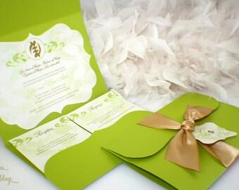 Nyame Ye Ohene African symbol Wedding Invitations