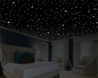 Romantic Bedroom Decor, Star Wall Decal, Glow in the Dark Stars, Romantic Gifts, Romantic Wall Decal, Ceiling Stars, removable wall decor