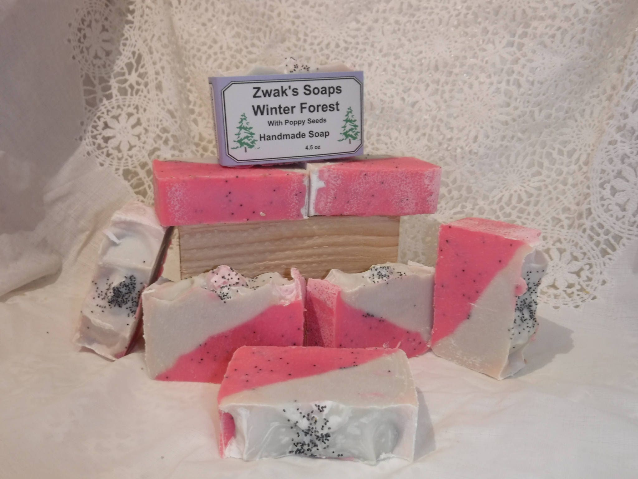 Winter Forest Handcrafted Soap with Poppy Seeds Shea Butter