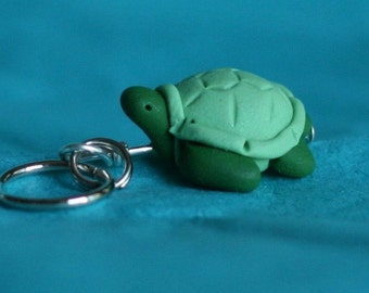 Green Sea Turtle Stitch markers turn of 4 Polymer Clay Sculpted Miniature Animal Knit, Crochet Accessories