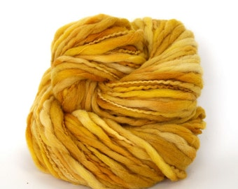Titan - Hand Dyed Thick & Thin Merino Wool Chunky Bulky Yarn - Colorway: Midas