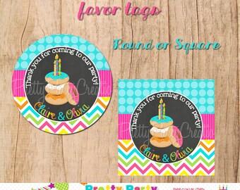 DONUT CELEBRATION birthday/shower/brunch favour tags - YOU Print