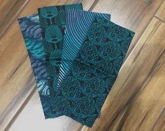 Emerald African Wax Print Fat Quarter Bundle