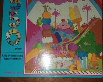 Vintage jigsaw ice cream puzzle