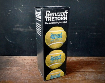 Vintage Bancroft Tretorn Pressureless Tennis Balls, Sealed Box of 3