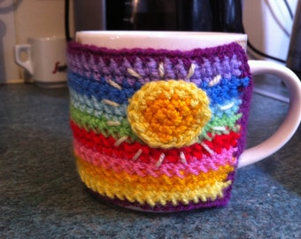Multicoloured mug cosy