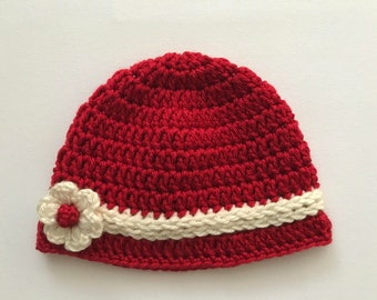 Baby red hat, crochet red hat, Baby girl hat, baby hat, baby beanie, kids fashion, xmas gifts