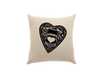 Spirit board Pillow Occult home decor Strange Throw Pillows Edgar Allan Poe Punk Housewares Cushions Accent Cute Halloween home