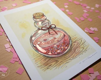 Bottle - HAND EMBELLISHED Fine Art Print