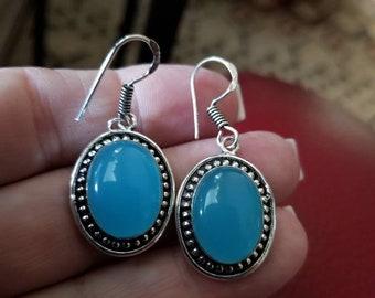 Blue Chalcedony Earrings!