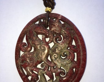 Unique Jade Necklace. Mystic...
