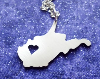 I Heart West Virginia - Necklace Pendant or Keychain