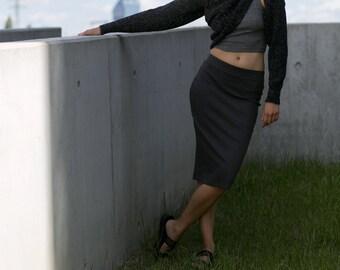 Neverending Sleeves in Heather Black