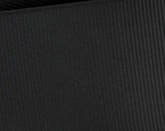 Black Grosgrain  Ribbon   (05-##-S-123)