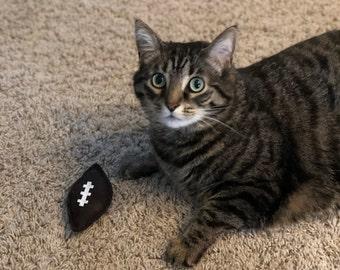Football Cat Toy - Sport Organic Catnip Toy - Cat Dad Gift - Sports Fan Cat Lover Gift - Cat Nip Cat Toys