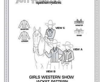 PDF Girls' Princess Seam Western Show Jacket Pattern