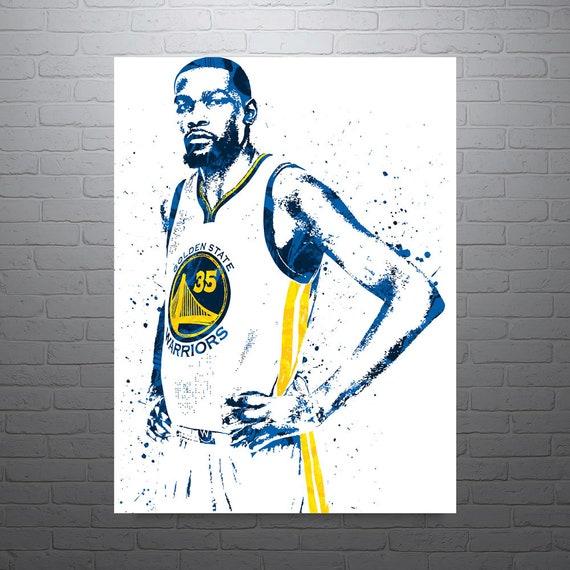 kevin durant golden state warriors sports art print