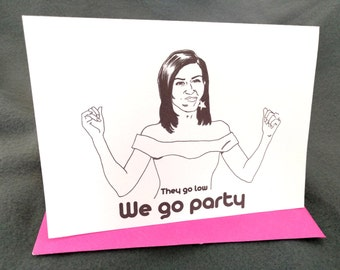 January 17th - Michelle Obama -  Born on Your Birthday Card
