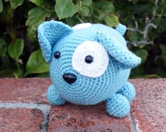 Crochet Pattern-- Roly Poly Doggy Amigurumi --Crochet Pattern