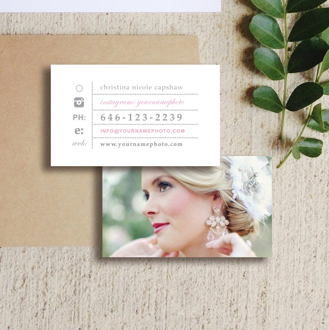 Photography Templates Business Cards Wedding Photographer
