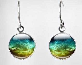 Space Earrings, Space Jewellery, Science Jewelry, Galaxy Space Earrings - Galaxy Jewellery (SPSJ1 -t1)