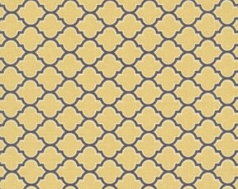 Lodge Lattice in Vintage Yellow - Joel Dewberry